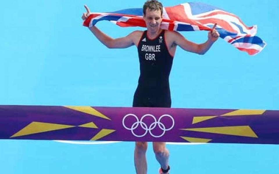 Alistair Brownlee - britský triatlonisty jako olympijský vítěz v Londýně 2012.