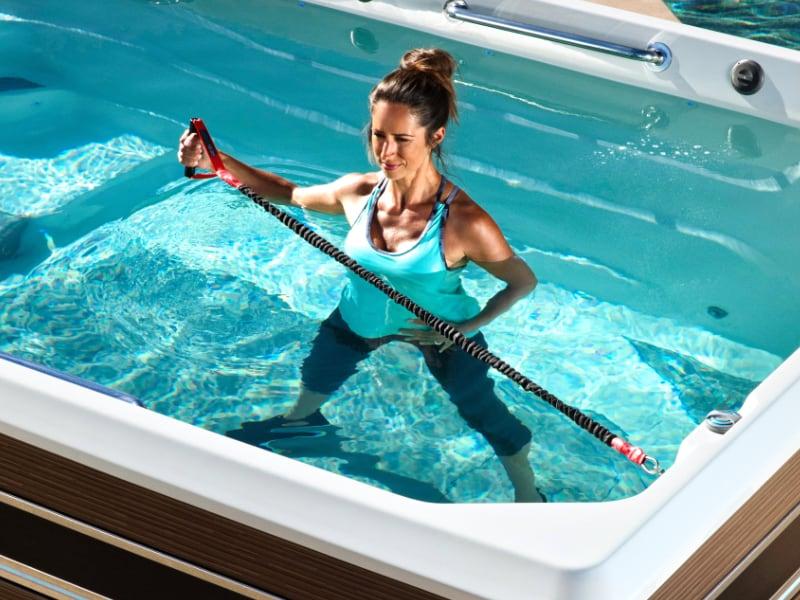 Ukázka veslařského trenažéru